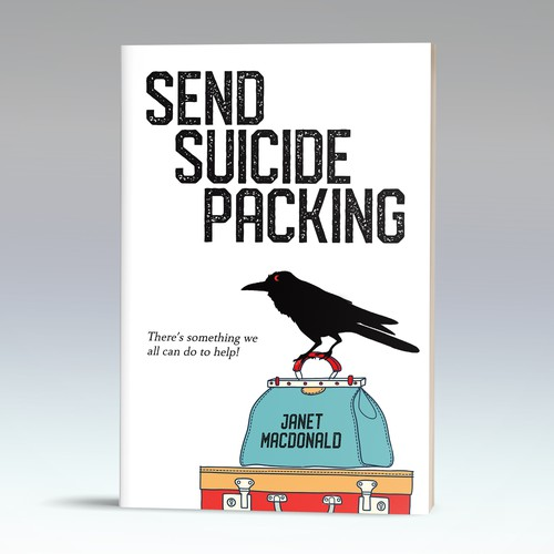 White book cover with the title 'Interesting take for a book on suicide prevention'