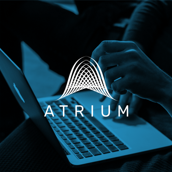 Fractal logo with the title 'Atrium - Logo for an AI consulting firm'