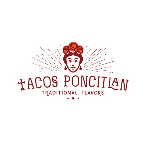 """Mexican brand with the title 'Logo design for """"Tacos Poncitlan""""'"""