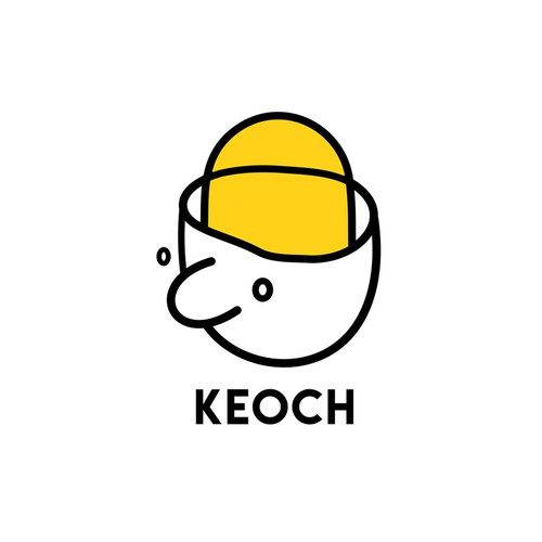 Perspective design with the title 'KEOCH Logo Design'