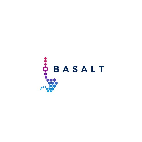 Cancer logo with the title 'Bold logo design concept for Basalt research project.'