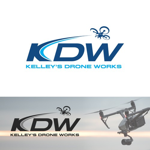 Aerial logo with the title 'KDW - KELLEY'S Drone Works'