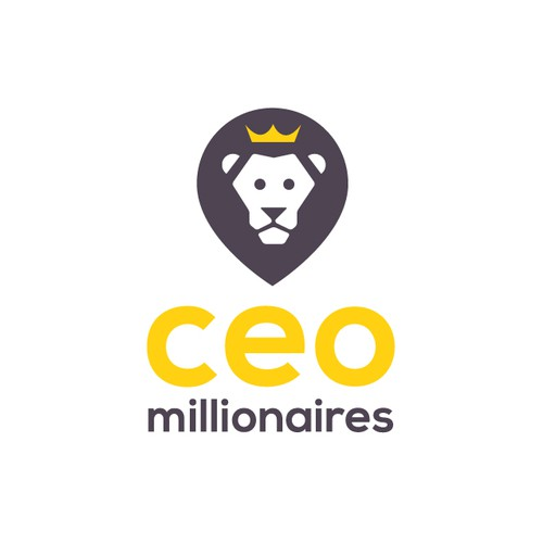 Lion head design with the title ' Brand based around a character that relates to money.'