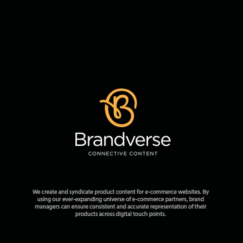 Symbol logo with the title 'Brandverse'