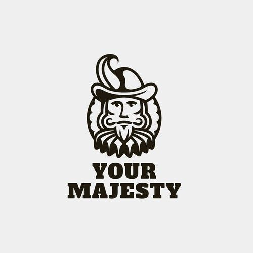 Portrait logo with the title 'Bold logo for Your Majesty'