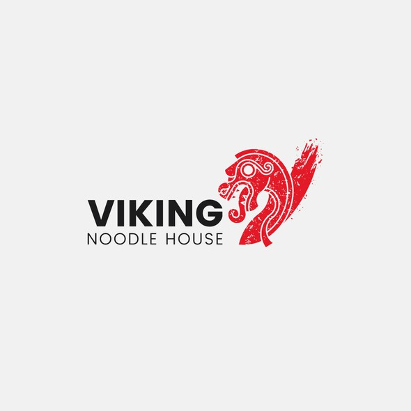 Noodle logo with the title 'Viking Noodle House Logo'