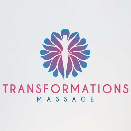 Massage logo with the title 'a feminine logo for massage practice'
