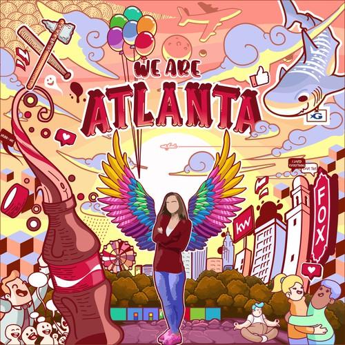 Wall art design with the title 'Wall Art Atlanta'