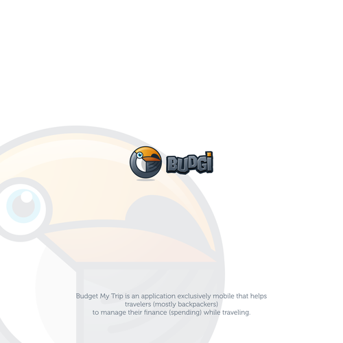 Toucan design with the title 'BUDGI'