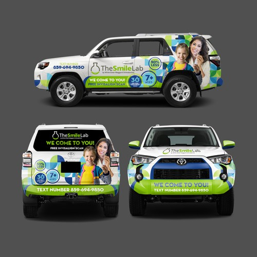 Wrap design with the title 'The Smile Lab SUV Wrap'