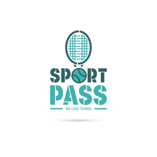 Paddle design with the title 'Tennis app logo'