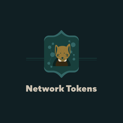 Sketching logo with the title 'Illustrative Logo for Network Tokens'