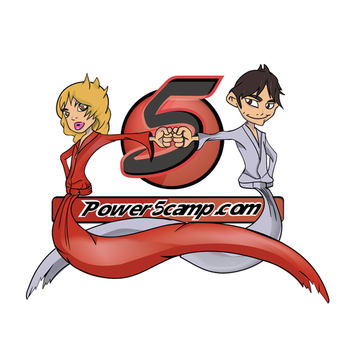 Dojo logo with the title 'Power 5 summer day camp logo needed'
