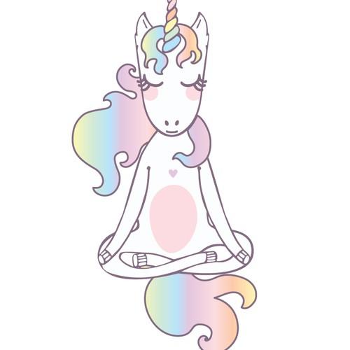 Unicorn artwork with the title 'Yoga Unicorn '