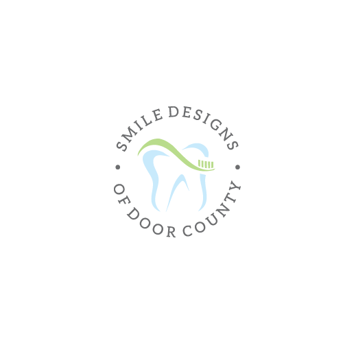 Dental design with the title 'Smile Design of Door County Logo'