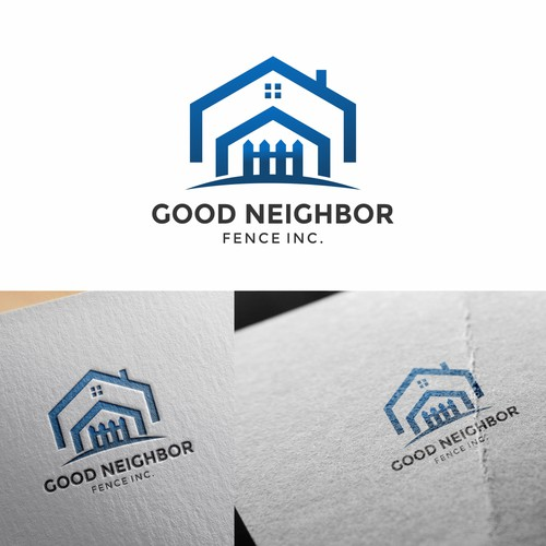 Fence logo with the title 'Good Neighbor Logo'