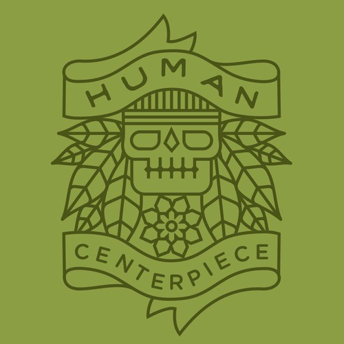 Cool logo with the title 'Human Centerpiece.'