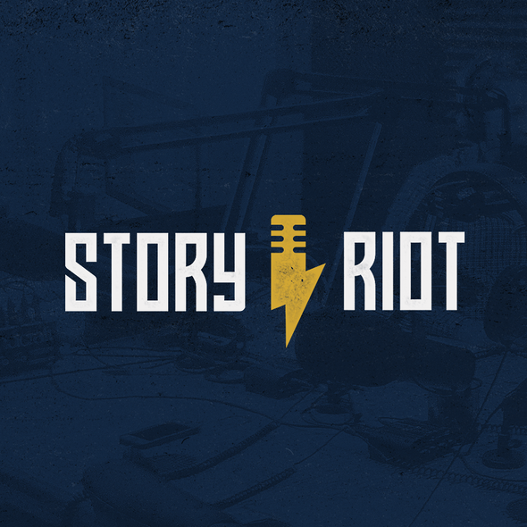 Youthful design with the title 'Story Riot'