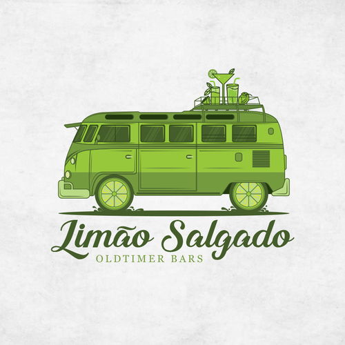 Shuttle service logo with the title 'Logo Design for mobile cocktailbars'