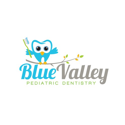 Toothbrush logo with the title 'BlueValley Pediatric Dentistry'