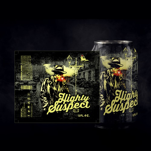 Canister design with the title 'Highly Suspect'
