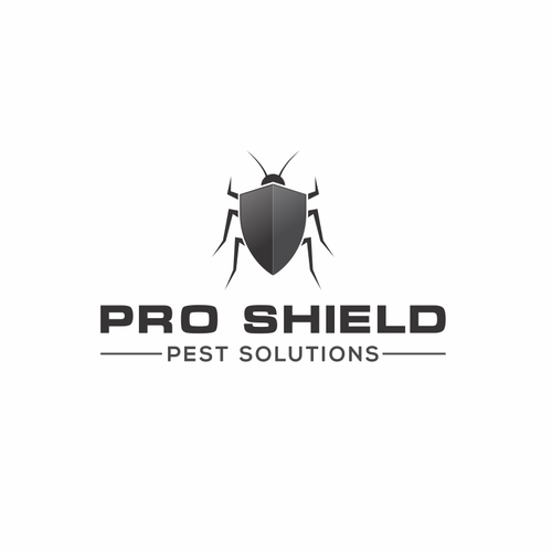 Beetle design with the title 'Pest solution logo concept'