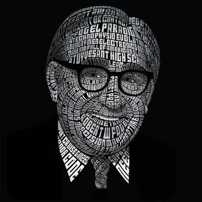 Tyography Illustration of Robert Fogel