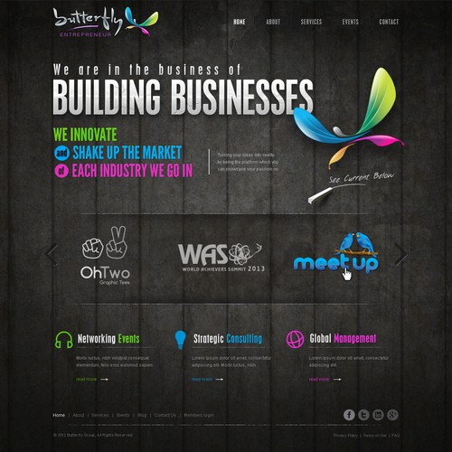 Marketing website with the title 'Stunning Landing Page for B.E.'