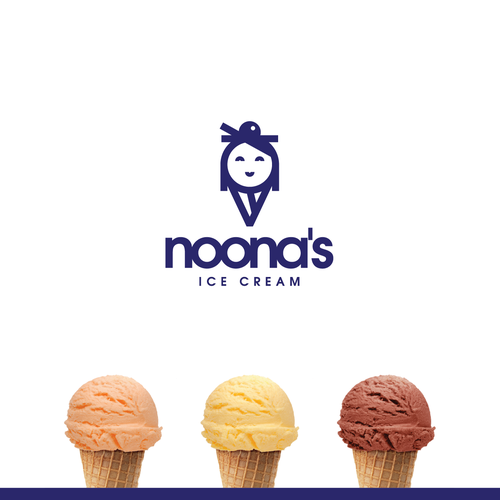 Iconic brand with the title 'Logo concept for Korean ice cream'