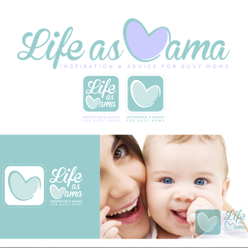Mother and child logo with the title 'Logo for Mom Themed Website'