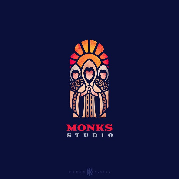 Monk logo with the title 'Monks Studio'