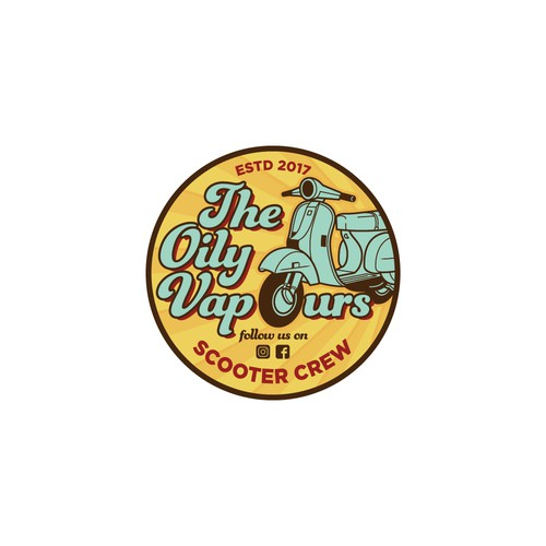 Scooter logo with the title 'The Oily Vapours'