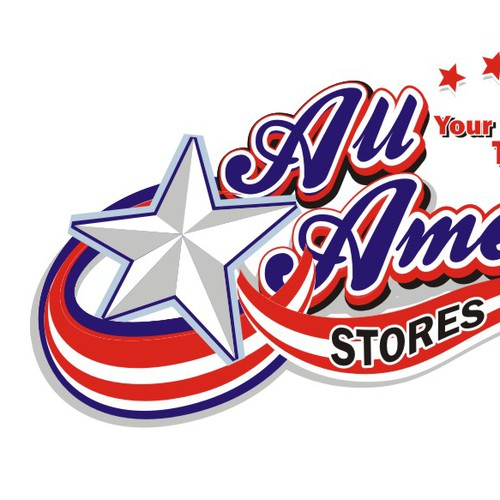 Beverage logo with the title 'Logo selected for All-American Stores!'