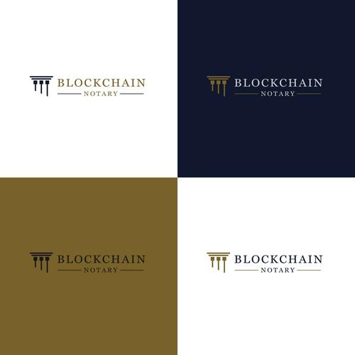 Pillar logo with the title 'Blockchain law pillar'