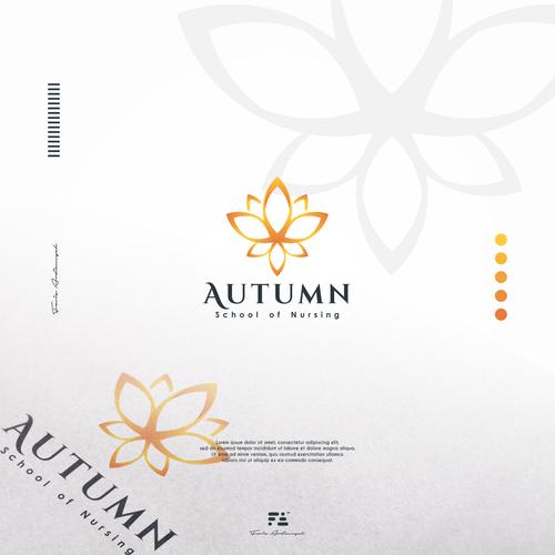 Nurse logo with the title 'Autumn Logo Concept'