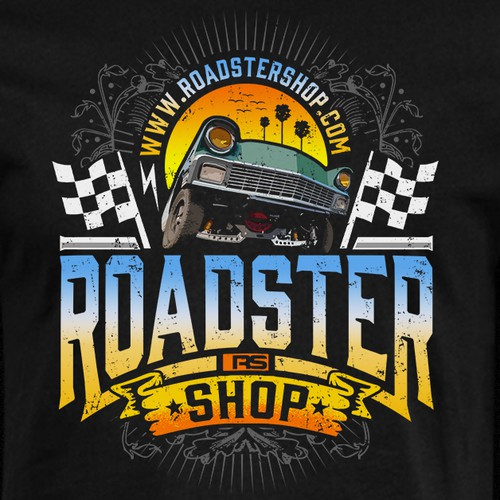 Retro t-shirt with the title 'RoadSter Shop'