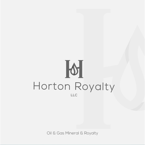 Royal design with the title 'Oil and Gas brand with sophisticated logo '