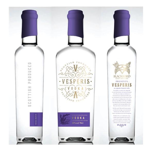 Vodka label with the title 'vodka'