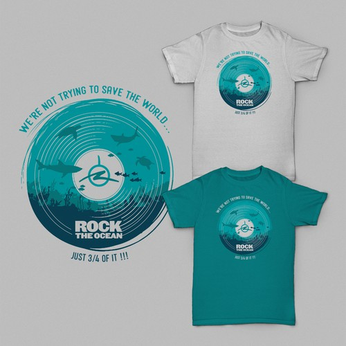 Nature t-shirt with the title 'Rock The Ocean'
