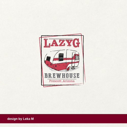 Trailer design with the title 'Lazy G Brewhouse'