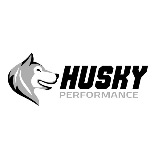 Canine design with the title 'Husky Performance'