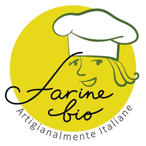 Flour design with the title 'Bold logo concept for organic flour shop.'