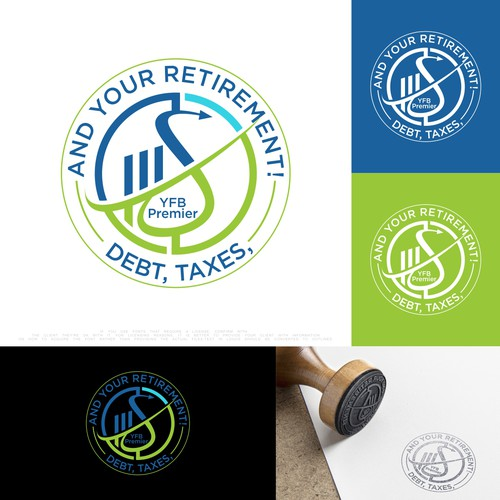 Pen tool logo with the title 'Debt, Taxes, and Your Retirement!'