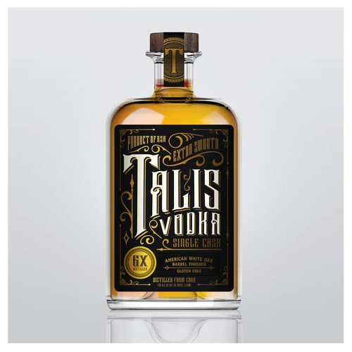 Craft label with the title 'Talis Vodka'