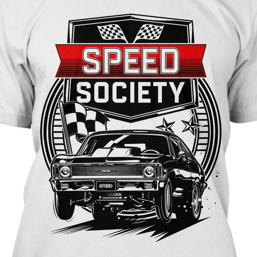 Car t-shirt with the title 'Speed S'