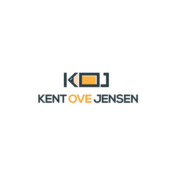 Portfolio logo with the title 'Logo for a personal portfolio designer named Kent Ove Jensen'