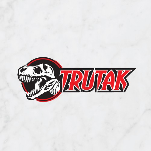 T-rex design with the title 'Tyrannosaurus Rex logo for Trutak Holdings Company'