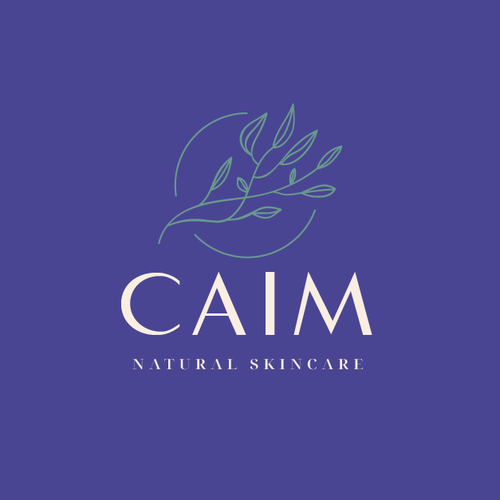Wellness design with the title 'caim natural skincare'