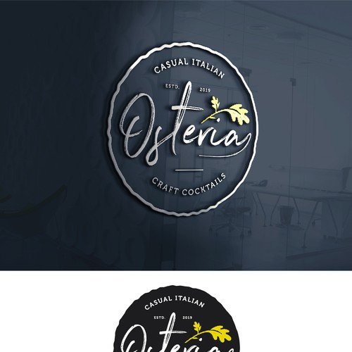 Italian cuisine logo with the title 'Osteria- Casual Italian'