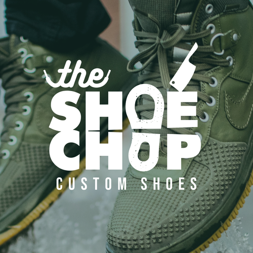 Shoe logo with the title 'Logo design for custom shoe shop '